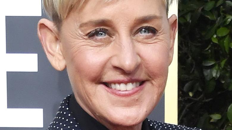 Ellen DeGeneres attending the 77th Annual Golden Globe Awards