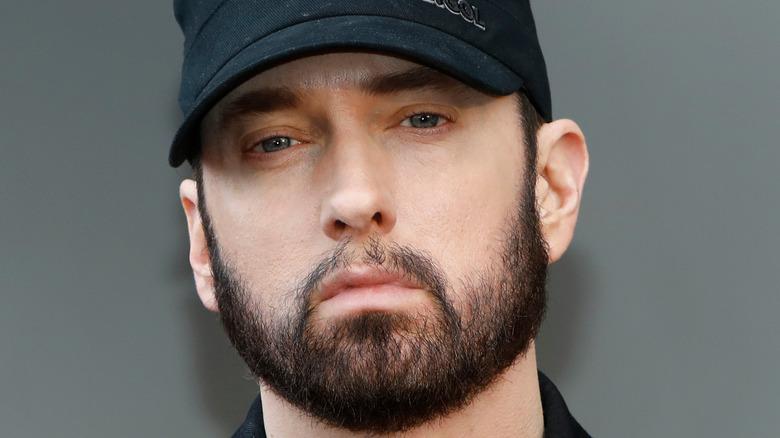 Eminem with facial hair