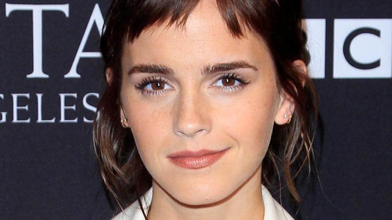 Emma Watson smiles on red carpet