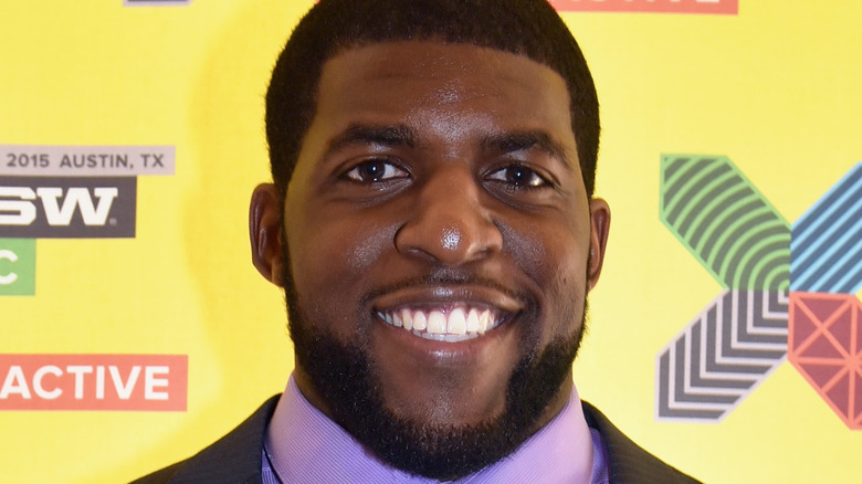 Emmanuel Acho on the red carpet