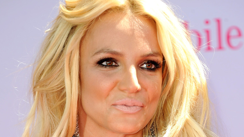 Britney Spears looking off to the side