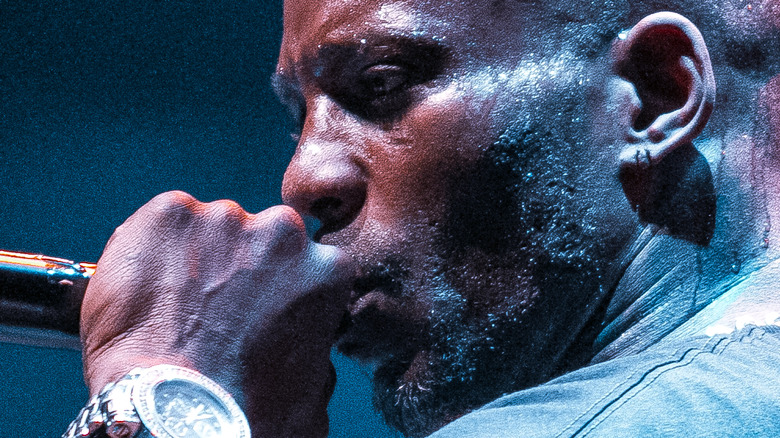 DMX performs on stage
