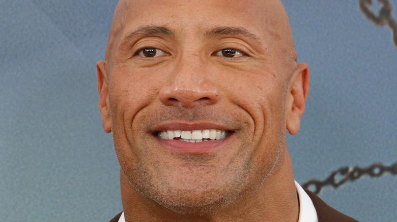 Dwayne Johnson smiling