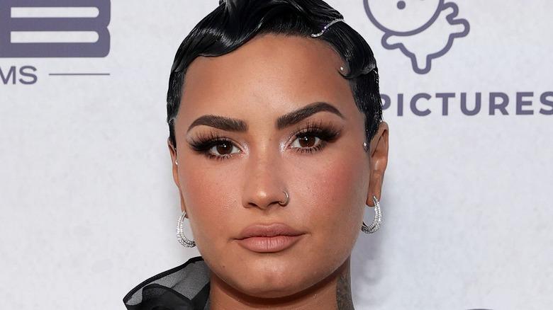 Demi Lovato neutral expression
