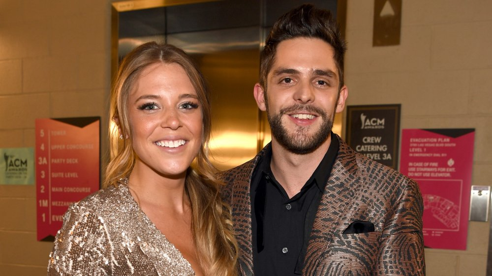 Thomas Rhett and Lauren Akins smiling together