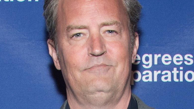 Matthew Perry attends theater