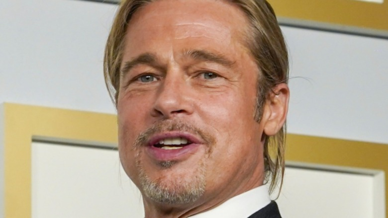 Brad Pitt speaks onstage during the 93rd Annual Academy Awards at Union Station on April 25, 2021