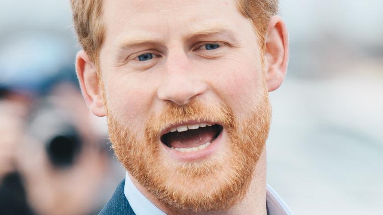 Prince Harry joking around