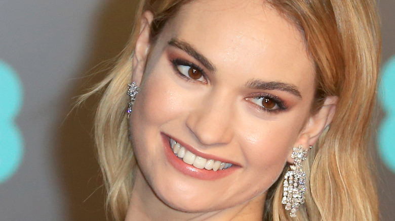 Lily James smiling