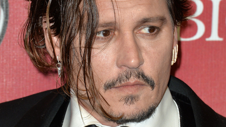 Johnny Depp with serious expression