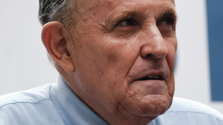 Rudy Giuliani looking serious 2021
