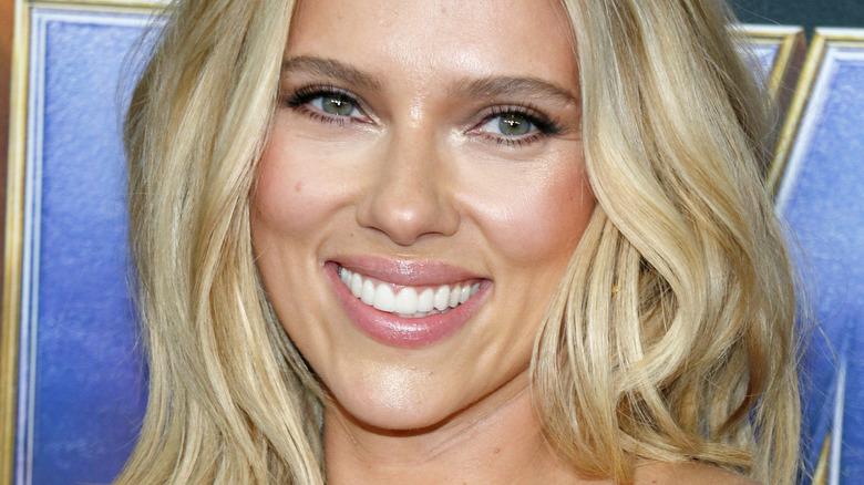 Scarlett Johansson smiling at camera
