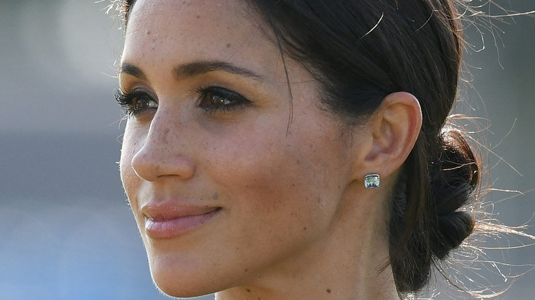 Meghan Markle looking off into distance