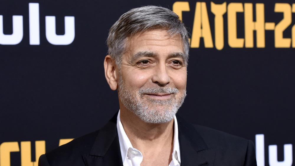 George Clooney smiling