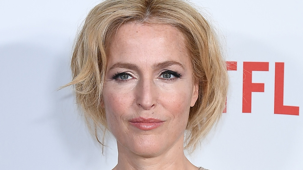 Gillian Anderson smiling on the red carpet