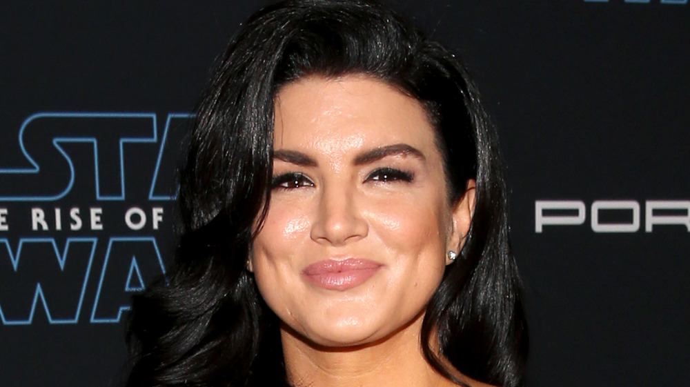 Gina Carano posing for photos on the red carpet