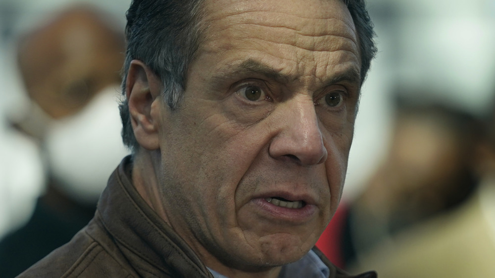Gov. Andrew Cuomo looking serious