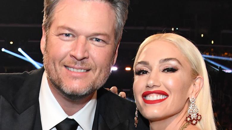 Blake Shelton and Gwen Stefani at the Grammys