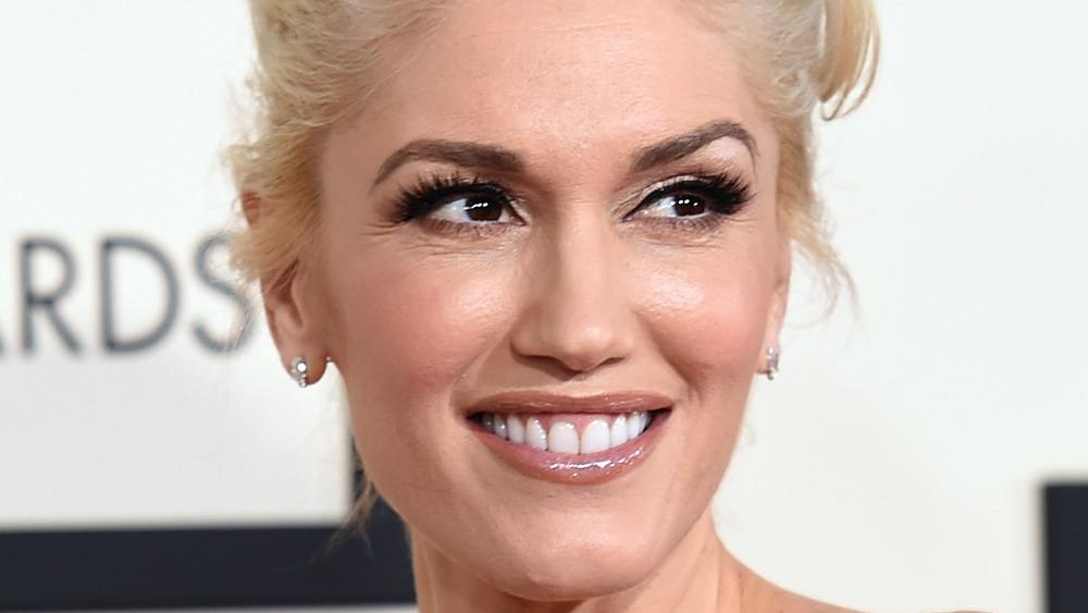 Gwen Stefani smiling with teeth
