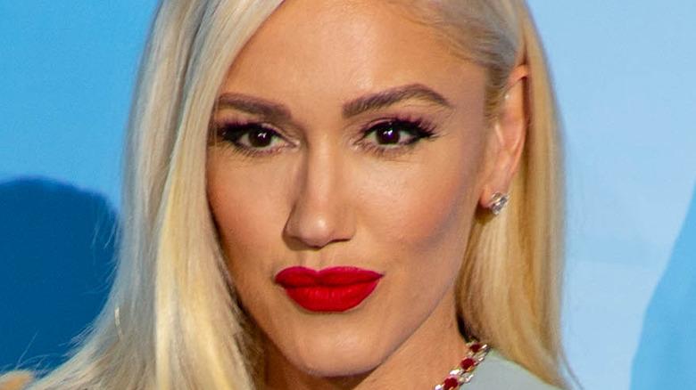 Gwen Stefani gazing in front