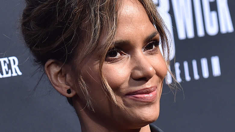 Halle Berry smiling