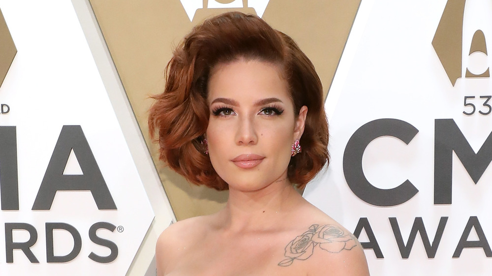 Halsey at the CMA awards