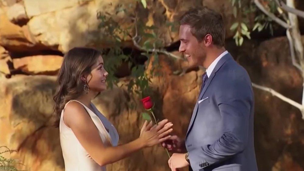 Hannah Ann Sluss and Peter Weber on The Bachelor finale