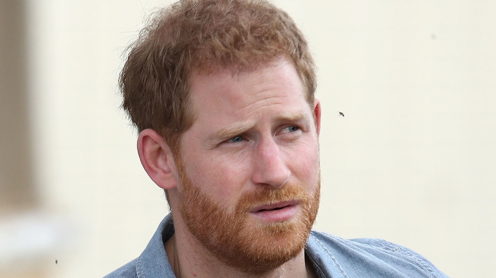 Prince Harry scowling