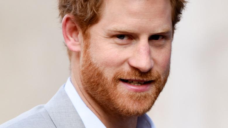 Prince Harry smiling at camera