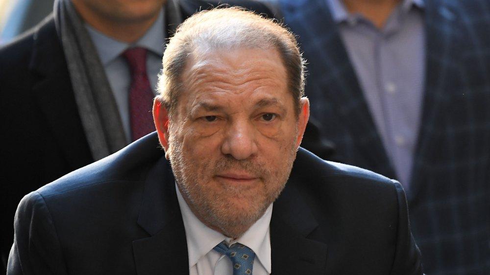 Harvey Weinstein outside of court