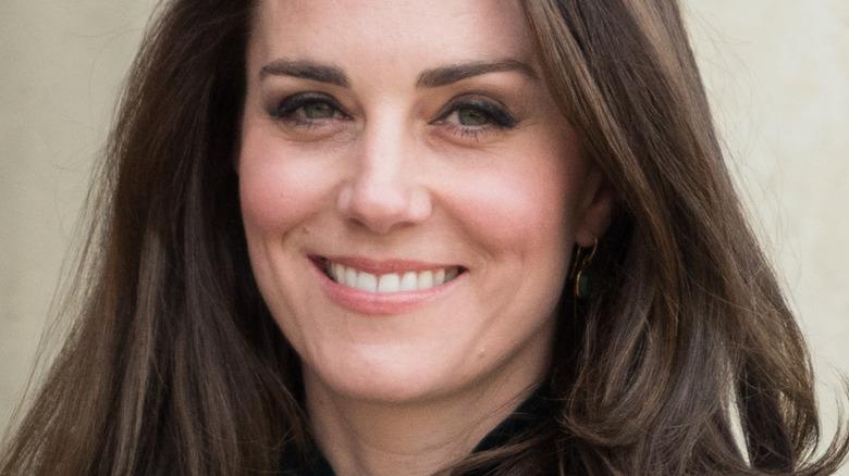 Kate Middleton smiling at the camera