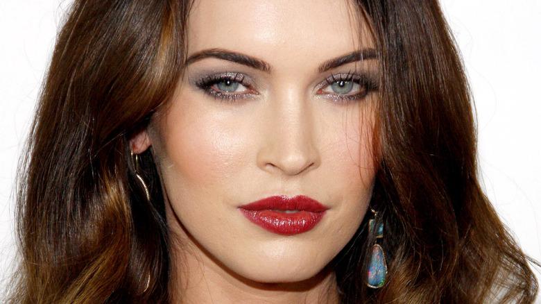 Megan Fox poses at red carpet event