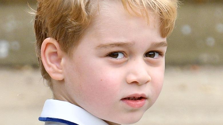 Prince George looking at camera