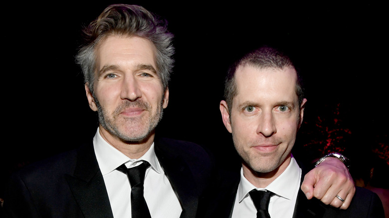 David Benioff and D.B. Weiss smiling
