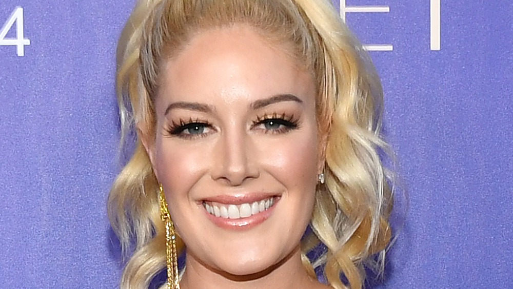 Heidi Montag smiling on the red carpet