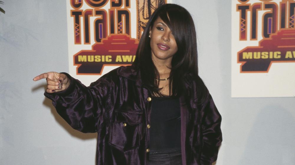 Aaliyah at the 11th Soul Train Music Awards