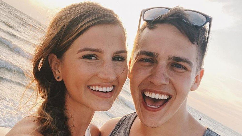 Carlin Stewart and Evan Stewart pose for a selfie on Instagram