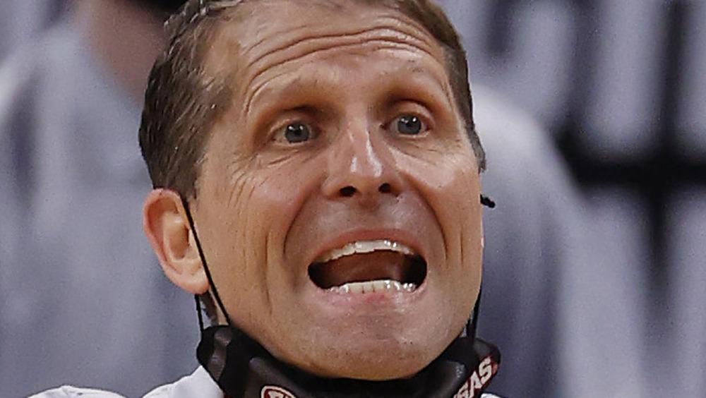 Eric Musselman coaching the University of Arkansas Razorbacks
