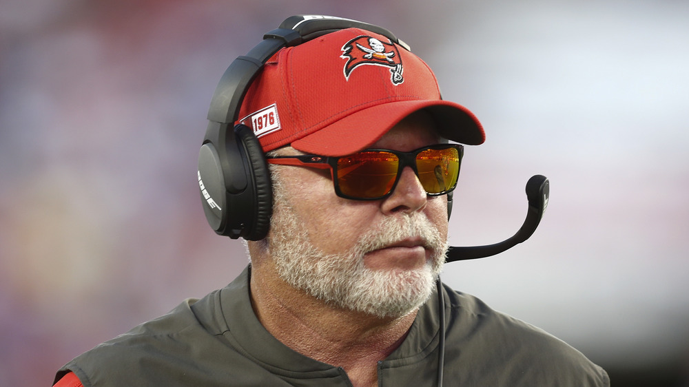 Bruce Arians on the football field