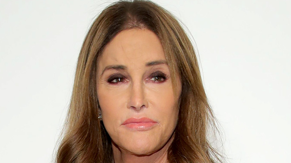 Caitlyn Jenner gazing to the left