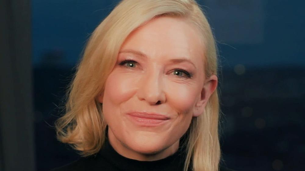 Cate Blanchett poses