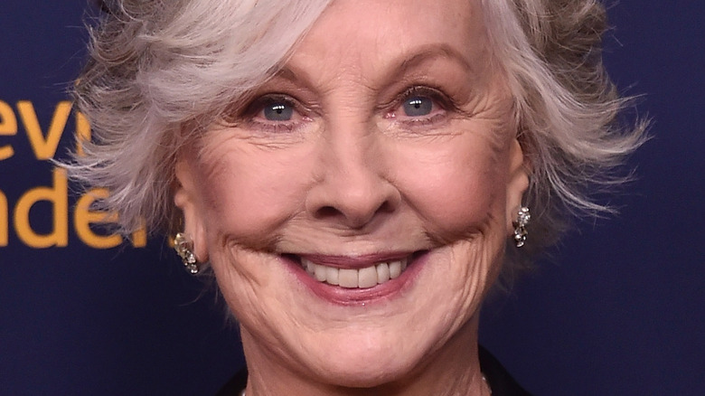 Christina Pickles posing in the press room at the 2018 Creative Arts Emmy Awards