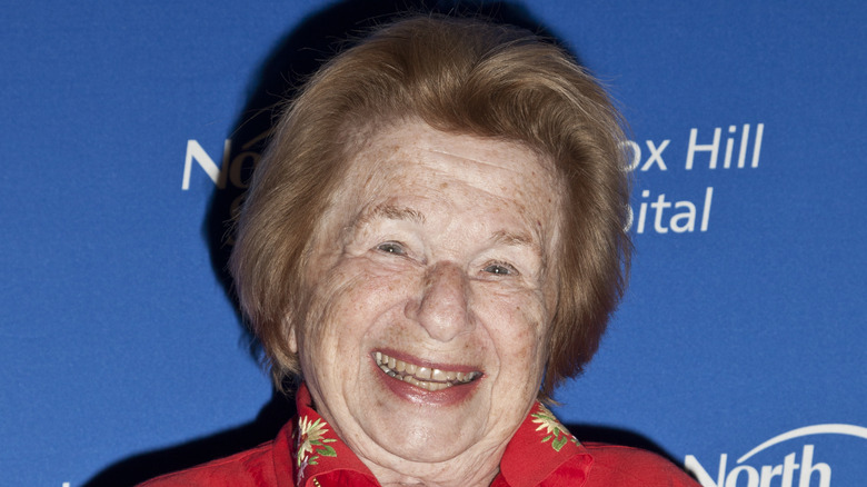 Dr. Ruth, red carpet