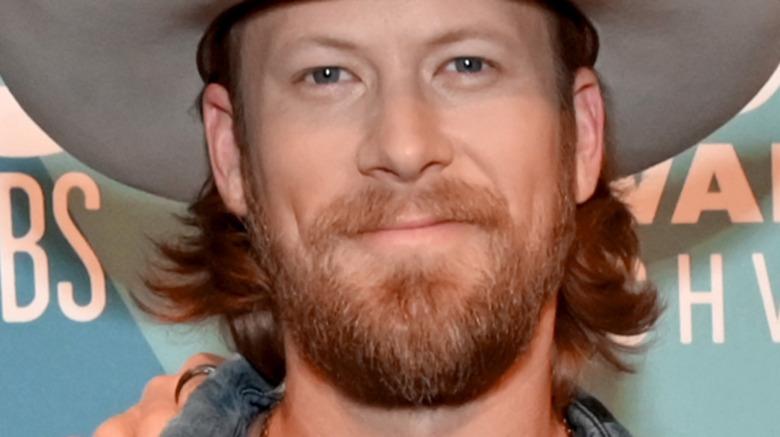 Brian Kelley, smiling, facial hair, 2020 red carpet, cowboy hat