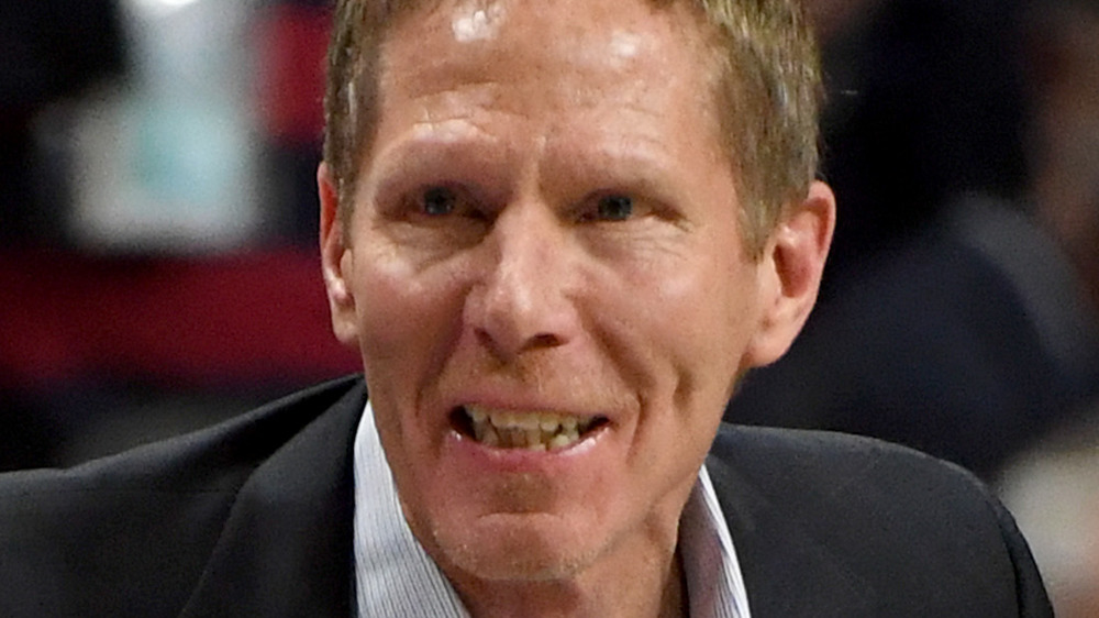 Mark Few smiles at players