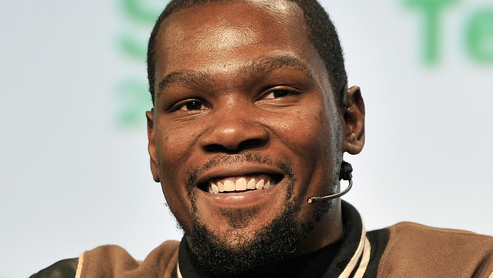 Kevin Durant smiling