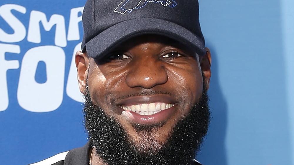 LeBron James on red carpet