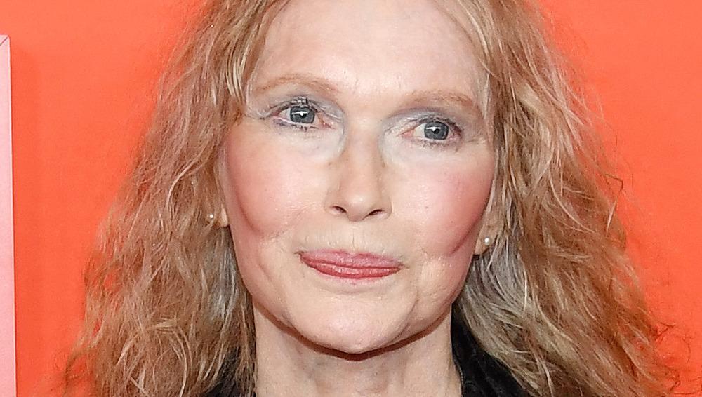 Mia Farrow on red carpet