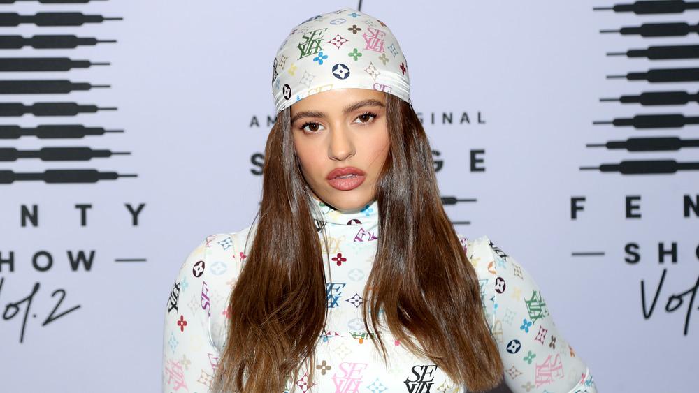 Rosalía dressed in Louis Vuitton