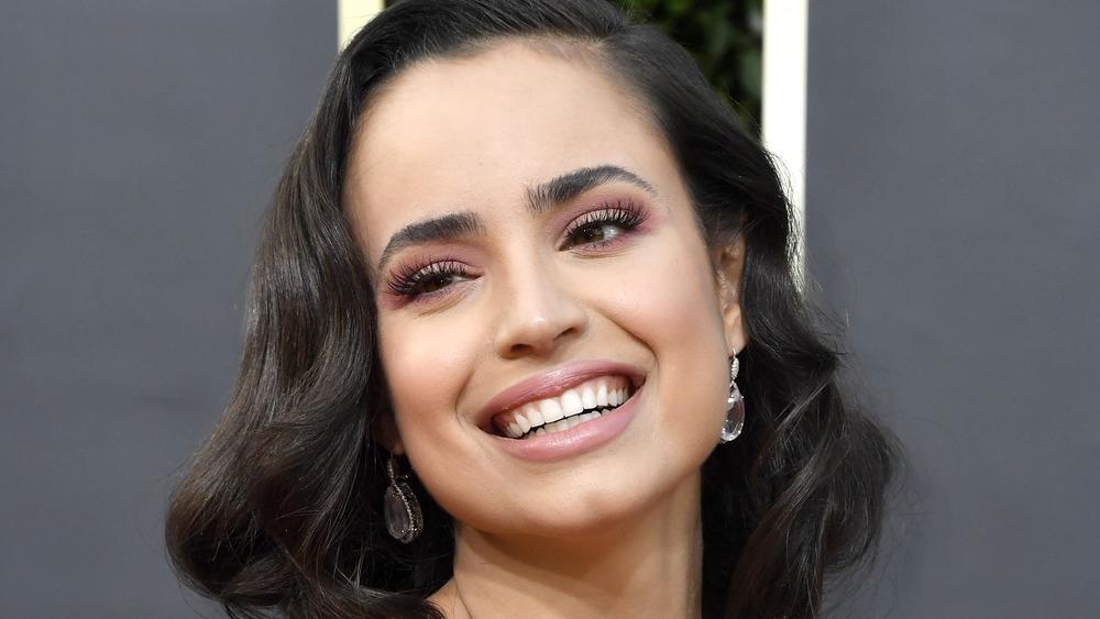 Sofia Carson smiles at the 2020 Golden Globes